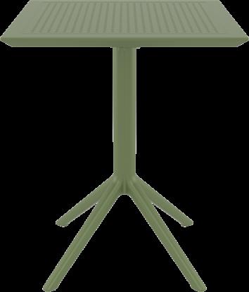 Εικόνα της ΣΚΑΙ ΤΡΑΠΕΖΙ ΠΤΥΣ/ΝΟ 60Χ60X74εκ. OLIVE GREEN ΠΟΛ/ΝΙΟΥ