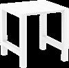 Εικόνα από VEGAS BAR WHITE 100X100/140εκ. ΕΠΕΚΤ. ΠΟΛ/ΝΙΟΥ