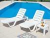 Εικόνα από Ξαπλώστρα Πλαστική 28τμχ Bahama Λευκή 187Χ54Χ30εκ.