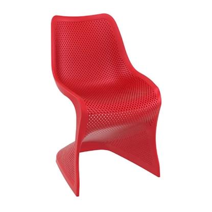 Εικόνα της Καρέκλα Πολυπροπυλενίου 4τμχ Bloom Red 50X58X85εκ.