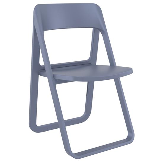 Εικόνα από Καρέκλα Πολυπροπυλενίου 4τμχ Dream Dark Grey Πτυσσόμενη 48Χ52Χ82εκ.