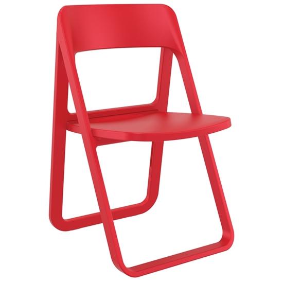 Εικόνα από Καρέκλα Πολυπροπυλενίου 4τμχ Dream Red Πτυσσόμενη 48Χ52Χ82εκ.