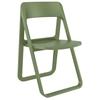 Εικόνα από Καρέκλα Πολυπροπυλενίου 4τμχ Dream Olive Green Πτυσσόμενη 48Χ52Χ82εκ.