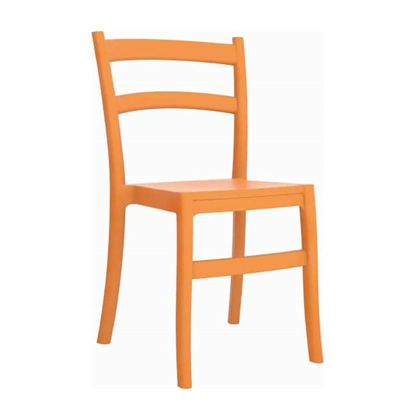 Εικόνα της Καρέκλα Πολυπροπυλενίου 24τμχ Tiffany Orange 45Χ51Χ85εκ.