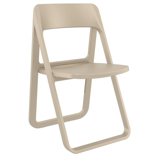 Εικόνα από Καρέκλα Πολυπροπυλενίου 4τμχ Dream Dove Grey Πτυσσόμενη 48Χ52Χ82εκ.
