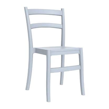 Εικόνα της Καρέκλα Πολυπροπυλενίου 24τμχ Tiffany Silver Grey 45Χ51Χ85εκ.