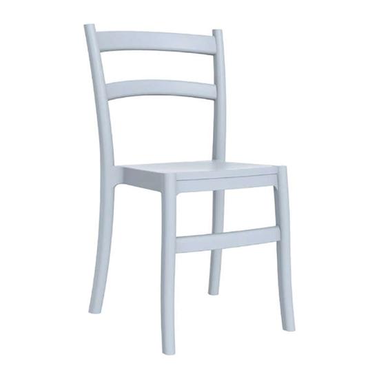 Εικόνα από Καρέκλα Πολυπροπυλενίου 24τμχ Tiffany Silver Grey 45Χ51Χ85εκ.