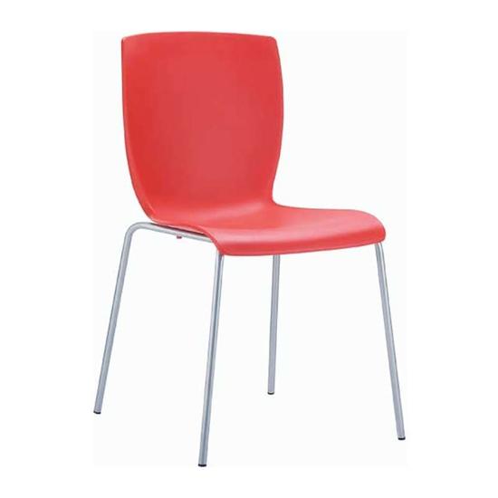 Εικόνα από Καρέκλα Πολυπροπυλενίου Μέταλλο 6τμχ Mio Red 47Χ50Χ80εκ.