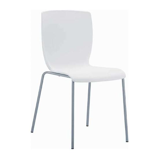 Εικόνα από Καρέκλα Πολυπροπυλενίου Μέταλλο 6τμχ Mio White 47Χ50Χ80εκ.