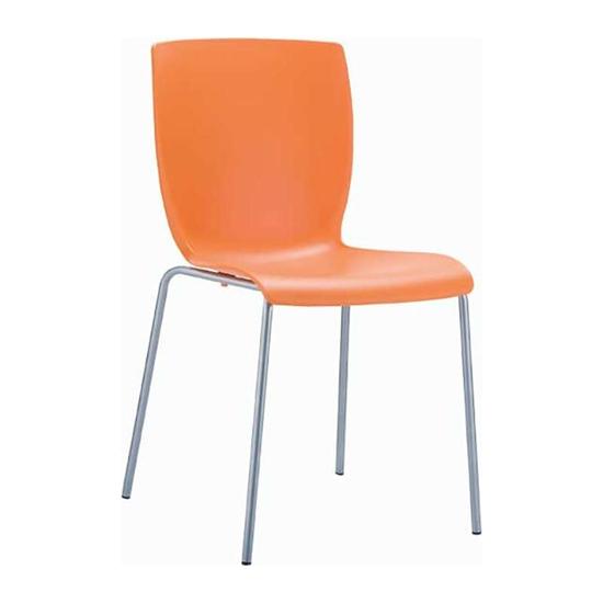 Εικόνα από Καρέκλα Πολυπροπυλενίου Μέταλλο 6τμχ Mio Orange 47Χ50Χ80εκ.