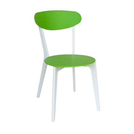 Picture of Καρέκλα Πολυπροπυλενίου 4τμχ Silvana Πράσινο Λευκό 43X57X82εκ.