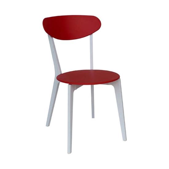Εικόνα από Καρέκλα Πολυπροπυλενίου 4τμχ Silvana Κόκκινο Λευκό 43X57X82εκ.