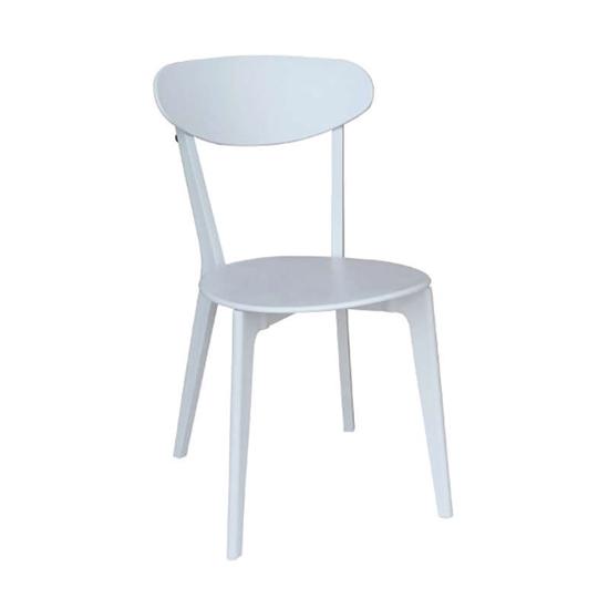 Εικόνα από Καρέκλα Πολυπροπυλενίου 4τμχ Silvana Λευκό Λευκό 43X57X82εκ.