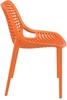 Εικόνα από Καρέκλα Πολυπροπυλενίου 4τμχ Air Orange 50X60X82εκ.