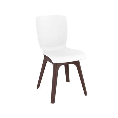 Εικόνα της Καρέκλα Πολυπροπυλενίου 4τμχ Mio PP Brown White 44Χ56Χ84εκ.
