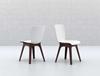 Εικόνα από Καρέκλα Πολυπροπυλενίου 4τμχ Mio PP Brown White 44Χ56Χ84εκ.