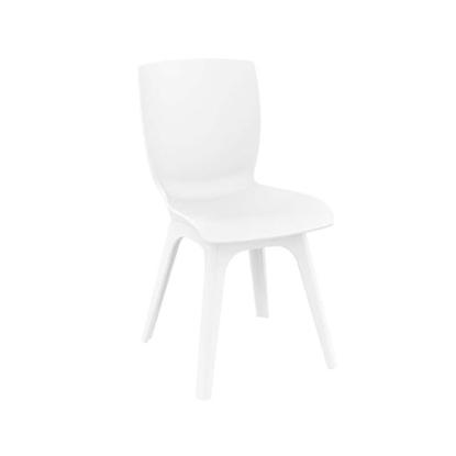 Εικόνα της Καρέκλα Πολυπροπυλενίου 4τμχ Mio PP White White 44Χ56Χ84εκ.