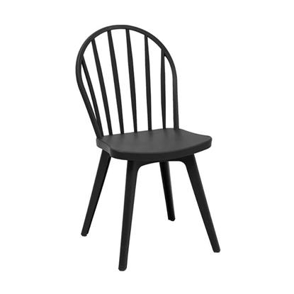 Εικόνα της Καρέκλα Πολυπροπυλενίου 4τμχ Mirella Oval Μαύρο 47Χ54Χ91εκ.
