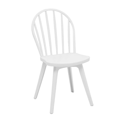 Εικόνα της Καρέκλα Πολυπροπυλενίου 4τμχ Mirella Oval Λευκό 47Χ54Χ91εκ.