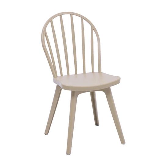 Εικόνα από Καρέκλα Πολυπροπυλενίου 4τμχ Mirella Oval Dove 47Χ54Χ91εκ.