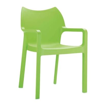 Εικόνα της Πολυθρόνα Πολυπροπυλενίου 22τμχ Diva Tropical Green 57X53X84εκ.