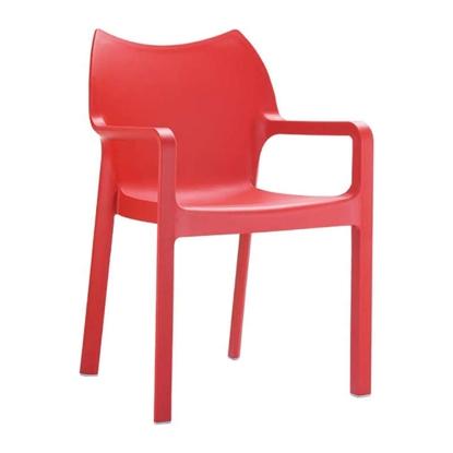 Εικόνα της Πολυθρόνα Πολυπροπυλενίου 22τμχ Diva Red 57X53X84εκ.