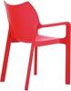 Εικόνα από Πολυθρόνα Πολυπροπυλενίου 22τμχ Diva Red 57X53X84εκ.
