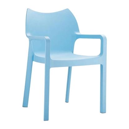 Εικόνα της Πολυθρόνα Πολυπροπυλενίου 22τμχ Diva Light Blue 57X53X84εκ.