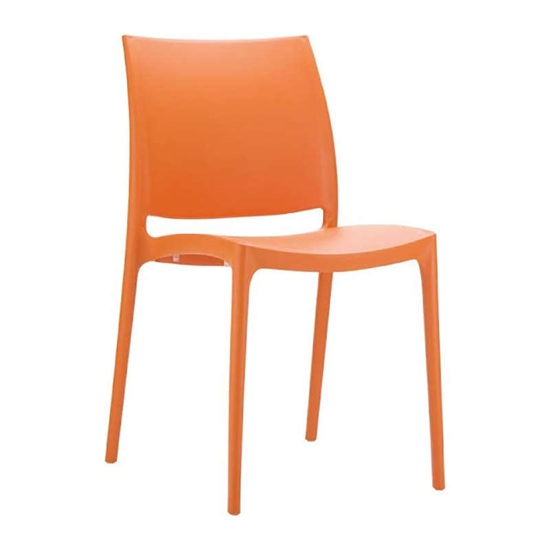 Εικόνα από Καρέκλα Πολυπροπυλενίου 22τμχ Maya Orange 44Χ50Χ81εκ.