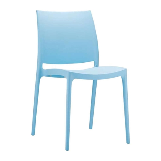 Εικόνα από Καρέκλα Πολυπροπυλενίου 22τμχ Maya Light Blue 44Χ50Χ81εκ.