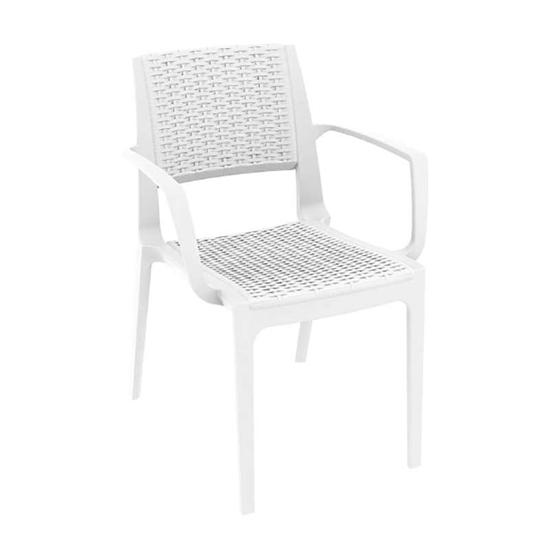 Εικόνα από Καρέκλα Πολυπροπυλενίου 22τμχ Capri White 58Χ62Χ82εκ.