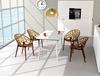 Εικόνα από Πολυθρόνα Ακρυλική 4τμχ Crystal Amber Transparent 59Χ60Χ80εκ.