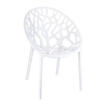 Εικόνα της Πολυθρόνα Ακρυλική 4τμχ Crystal Glossy White 59Χ60Χ80εκ.