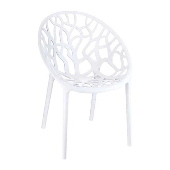 Εικόνα από Πολυθρόνα Ακρυλική 4τμχ Crystal Glossy White 59Χ60Χ80εκ.
