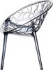 Εικόνα από Πολυθρόνα Ακρυλική 4τμχ Crystal Smoke Grey Transparent 59Χ60Χ80εκ.