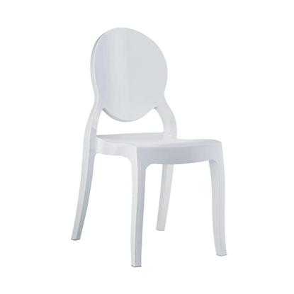 Εικόνα της Καρέκλα Ακρυλική 4τμχ Elizabeth Glossy White 47X50X90εκ.