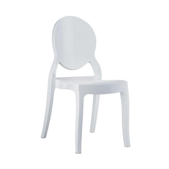 Εικόνα από Καρέκλα Ακρυλική 4τμχ Elizabeth Glossy White 47X50X90εκ.