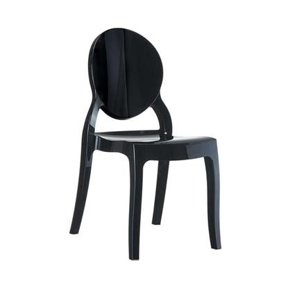 Εικόνα της Καρέκλα Ακρυλική 4τμχ Elizabeth Glossy Black 47X50X90εκ.