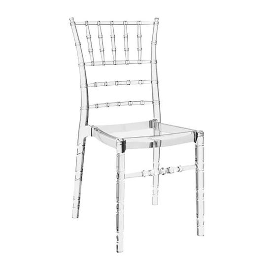 Εικόνα από Καρέκλα Ακρυλική 4τμχ Chiavari Clear Transparent 45X51X91εκ.