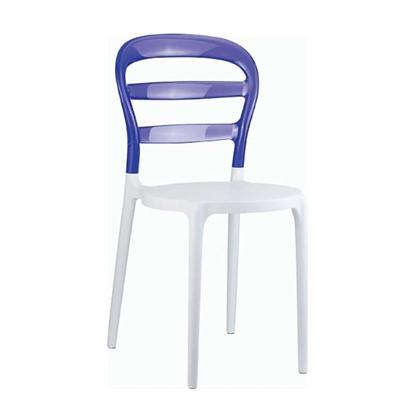 Εικόνα της Καρέκλα Πολυπροπυλενίου Ακρυλική 4τμχ Bibi White Violet Transparent 42X50X85εκ.