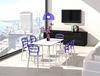 Εικόνα από Καρέκλα Πολυπροπυλενίου Ακρυλική 4τμχ Bibi White Violet Transparent 42X50X85εκ.