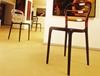 Εικόνα από Καρέκλα Πολυπροπυλενίου Ακρυλική 4τμχ Bibi Dark Grey Clear Transparent 42X50X85εκ.
