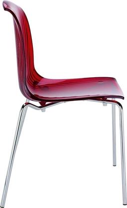 Εικόνα της Καρέκλα Ακρυλική 4τμχ Allegra Red Transparent 50Χ54Χ84εκ.