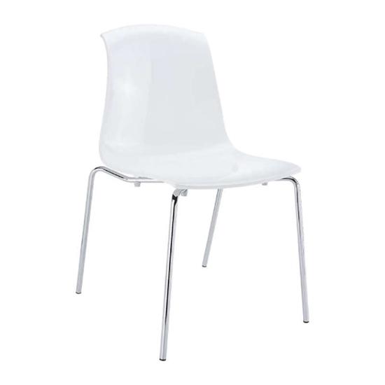 Εικόνα από Καρέκλα Ακρυλική 4τμχ Allegra Glossy White 50Χ54Χ84εκ.