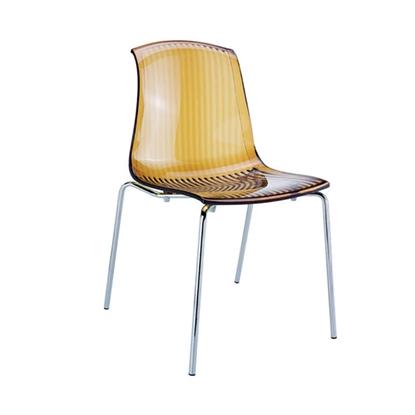 Εικόνα της Καρέκλα Ακρυλική 4τμχ Allegra Amber Transparent 50Χ54Χ84εκ.