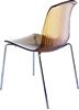 Εικόνα από Καρέκλα Ακρυλική 4τμχ Allegra Amber Transparent 50Χ54Χ84εκ.