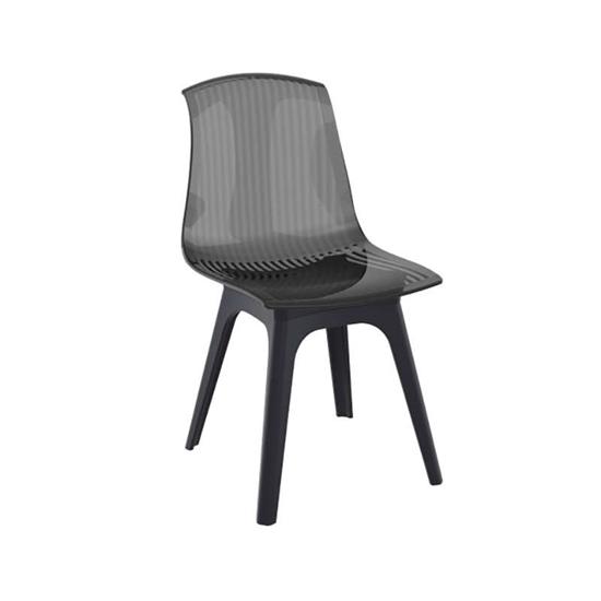 Εικόνα από Καρέκλα Ακρυλική 4τμχ Allegra PP Black Black 50Χ54Χ85εκ.