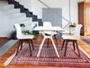 Εικόνα από Καρέκλα Ακρυλική 4τμχ Allegra PP Brown Glossy White 50Χ54Χ85εκ.