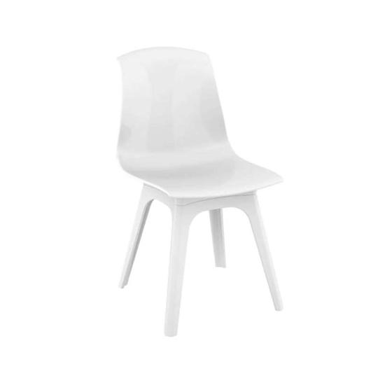 Εικόνα από Καρέκλα Ακρυλική 4τμχ Allegra PP White Glossy White 50Χ54Χ85εκ.