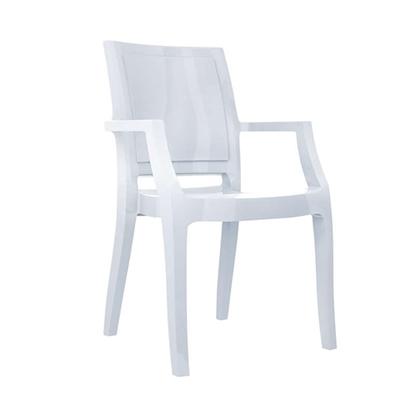 Εικόνα της Πολυθρόνα Ακρυλική 4τμχ Arthur Glossy White 56X60X91εκ.